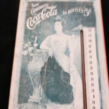 Lillian Nordica Coca Cola Thermometer