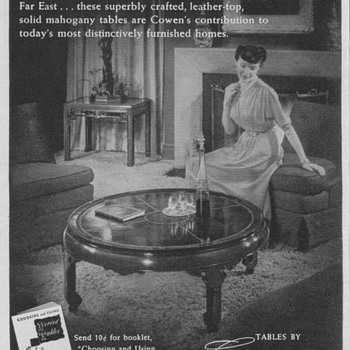 1950 Cowen Tables Advertisement - Advertising