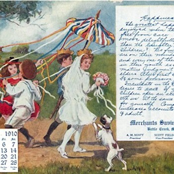 MAY FIRST, DANCE AROUND THE MAYPOLE,OR MARCH IN COMMUNIST PARADE? - Postcards