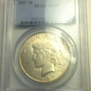 1927 & 1928 Peace Dollars