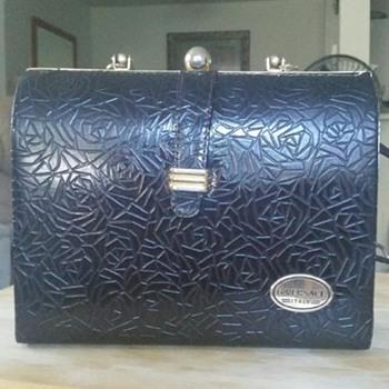 Vintage Black Clasp versace purse... - Bags