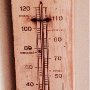 1905 Coca Cola Wood Thermometer - Coca-Cola