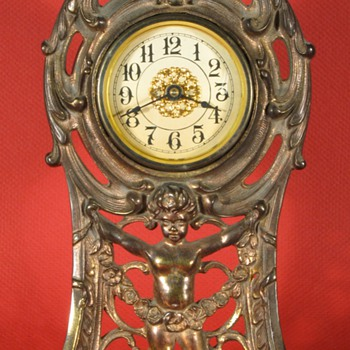 """Peerless"" Cast Front Clock by Western Clock Mfg. Co, 1911 - Clocks"