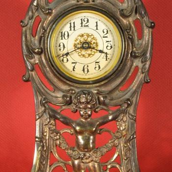 """Peerless"" Cast Front Clock by Western Clock Mfg. Co, 1911 - Clocks"
