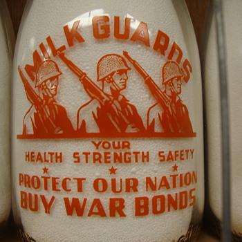 Lenick's Dairy LaPorte Indiana War Slogan Milk Bottle.............. - Bottles