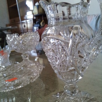 Glass crystal set