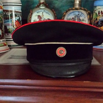 Hanseatic city (Bremen) peaked cap for an active  Landwehr officer model 1880 - Military and Wartime