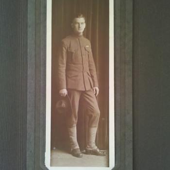WWI USMC Marine Corps studio photo of young Marine @1917