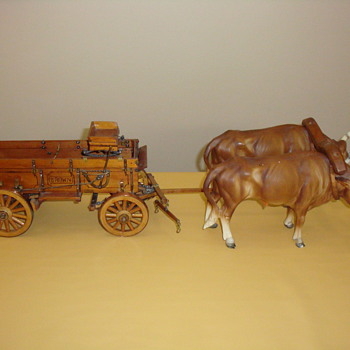 WAGON & LONGHORNS  - Advertising