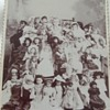 Cabinet card of HUGE Doll Collection c. 1890s