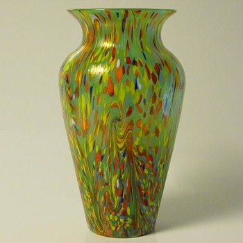 Art deco LOETZ-Ausfuehrungen-237- Green multicolored, Circa 1907 - 1920 - Art Glass