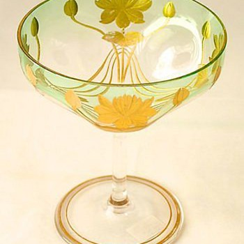 Moser Champagne Stem - Art Glass