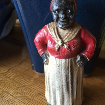 Mammy Cast Iron Doorstop/Bank
