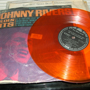 IMPORT COLORED RECORD ALBUMS JOHNNY RIVER PET CLARK MAMAS &amp; PAPAS