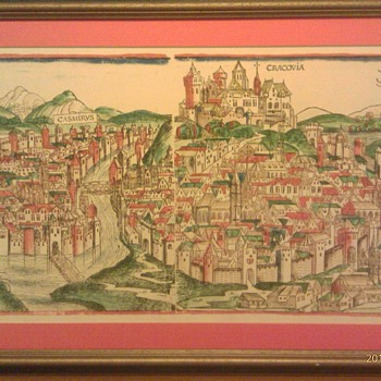 Hartmann Schedel Cracovia woodblock print - Posters and Prints