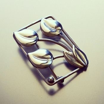 Hugo Grun (Grøn) Danish sterling silver Brooch