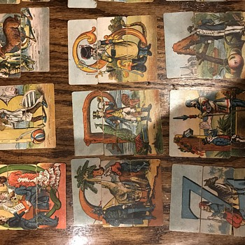 Cool vintage puzzles. Need help.