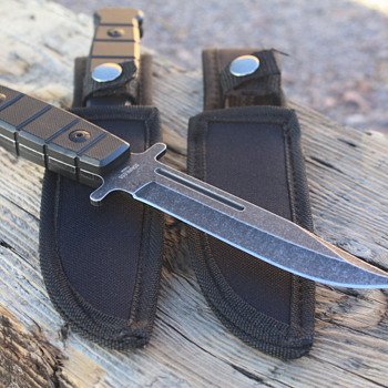 "MY SECOND ""DEFENDER"" #8084 FULL TANG, MILITARY-Style, FIXED-BLADED CAMPING/HUNTING KNIFE"