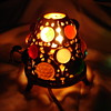 Victorian Gold Gilded Miniature Fairy Lamp With Glass Jewels Electric