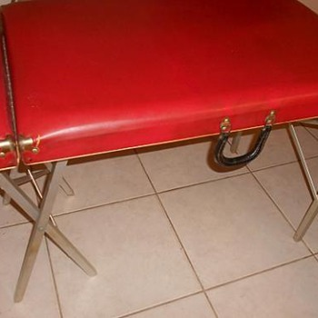 Early 70's Portable Massage Table with Aluminum legs -