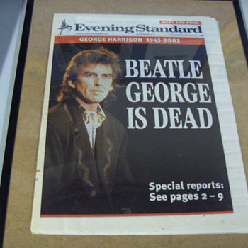 George Harrison newspaper-2001 - Music