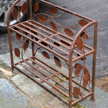 Old Iron Shelf - Furniture