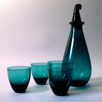 Nanny Still Small Carafe (from the Sininvihrea Series) - Art Glass