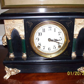 Early 1900's Sessions 8 day mantle/ shelf clock - Clocks