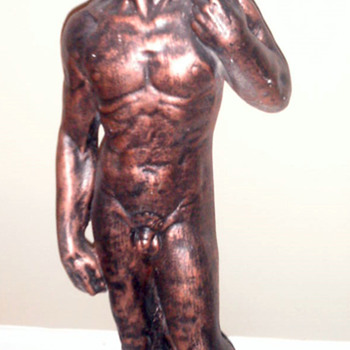 Painted Bronze Statue of??