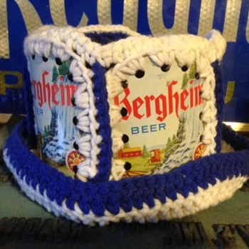 Bergheim Beer Can Knit Hat - Breweriana