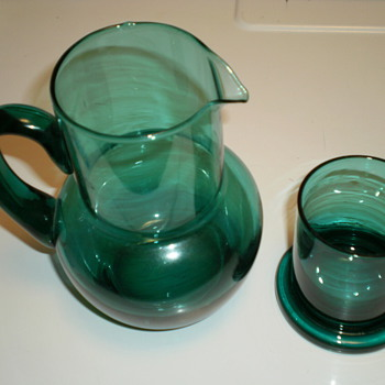 Water pitcher & drinking glass  - Glassware