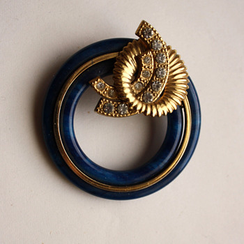 An interesting brooch in art deco style