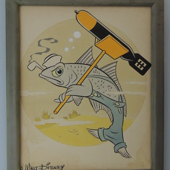 DISNEY DESIGNED INSIGNIA USS ATULE SS-403 - Advertising