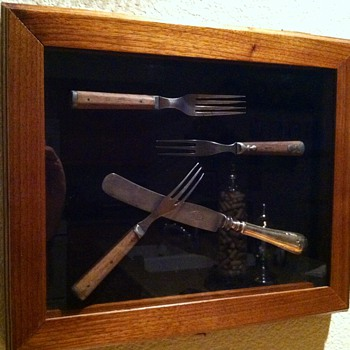 Shadow box for vintage cutlery