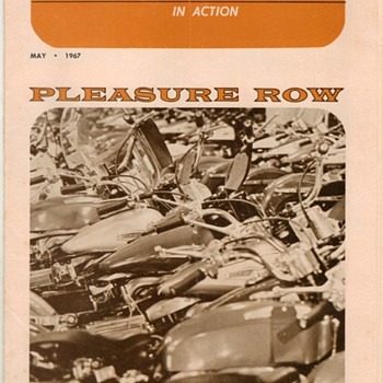 "1967 - ""Motorcyle Enthusiast"" - Harley-Davidson Periodical - Paper"