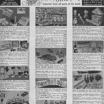 1950 Toys & Novelty Advertisement