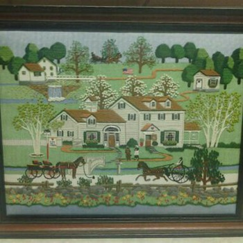 FOX HILL FARMS  NEEDLEWORK  - Folk Art