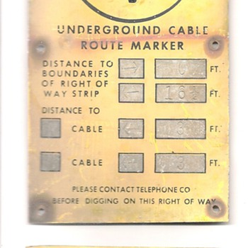 Bell System Toll Route Marker 
