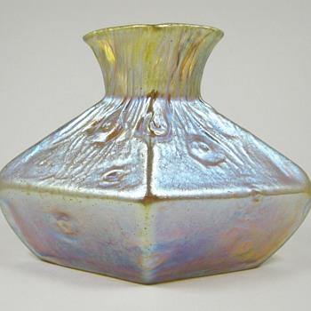 Loetz Candia Silberiris Rusticana Vase PN II-1788 ca. 1904 - Art Glass