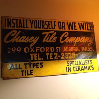 Tile sign 1950's