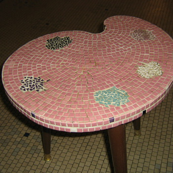 DIY Mosiac table from 60's - for AmberRose