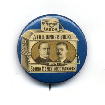 Two Presidential Campaign Pins from 1900 and 1924. - Medals Pins and Badges