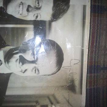 signed photo of JFK and Lyndon Johnson