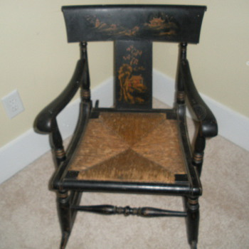 ANTIQUE CHINESE OR JAPANESE ROCKING CHAIR NOT SURE PERIOD - Asian