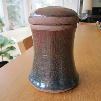 Mystery Coulter Ceramic Lidded Jar  - Pottery