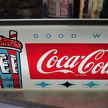 NOS ICEE/Coca Cola Lightup Sign from 1967