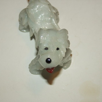 Pale Green Jade Carved Dog Asian Chinese/Japanese - Asian