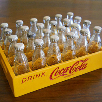 Miniature crates of Coka Cola