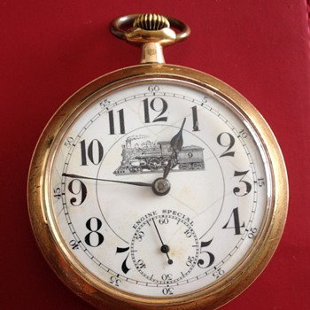 Vintage Engine Special Railroad Pocket Watch