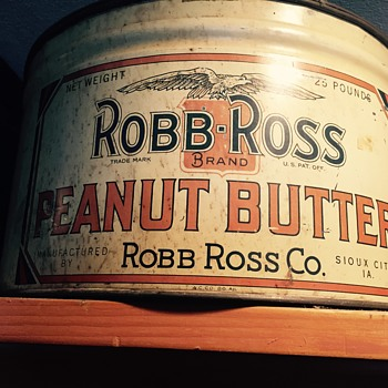 Robb Ross Peanut butter tin
